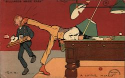 """Billiards Made Easy"" Postcard"