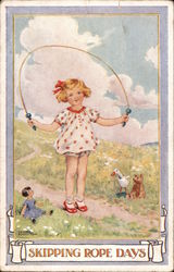 Skipping Rope Days Postcard