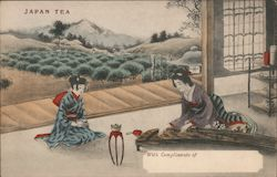Japan Tea - Woman Playing the Koto Postcard