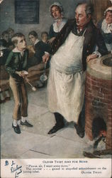 Oliver Twist asks for more Postcard