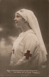 Red Cross Nurse French 1904 Postcard