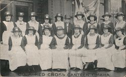 Co. A. Red Cross Nurses Canteen Postcard