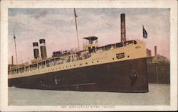 Eastland in River, Chicago Postcard
