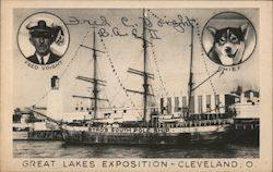 Great Lakes Exposition - Cleveland, O. - Byrd's South Pole Ship - Fred Voight - Chief Postcard