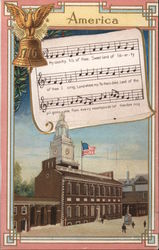 America, My Country 'tis of Thee - Independence Hall Postcard