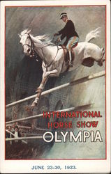 International Horse Show Olympia - Rider competing in show jumping Postcard
