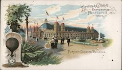 Lewis & clark Exposition Portland OR 1905 Foreign Exhibits Building Postcard