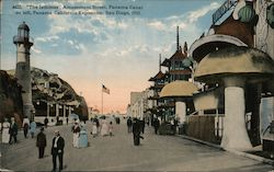 """The Isthmus"" Amusement Street Postcard"