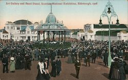 Art Gallery and Band Stand, Scottish National Exhibition 1908 Postcard