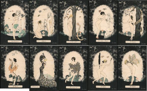 Set of 10: Nude Women Fantasy Series 583 Xavier Sager