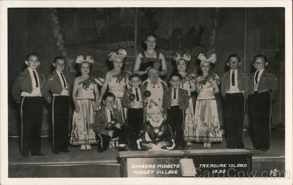 Singers Midgets, Midget Village - Treasure Island, 1939