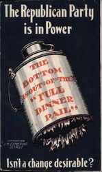 1908 Bryan: The Republican Party is in Power, The Bottom is Out of the Postcard