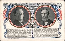 Candidates of the Democratic Party Postcard