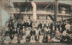 """In the Philippines"" Taft party on board the ""Manchuria"" Postcard"