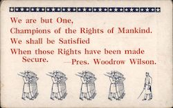 Pres. Woodrow Wilson quote Postcard