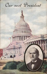1908 Our Next President William Jennings Bryan Postcard
