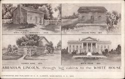 Abraham Lincoln's Homes Through the Years Postcard