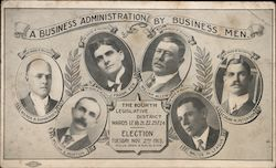 1915 Election: A Business Administration by Business Men Postcard