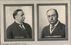 Wm. H. Taft and James S. Sherman Postcard