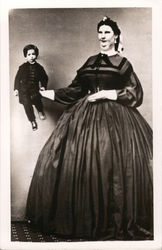 Large Woman Holding Tiny Person Sideshow