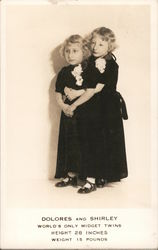 Dolores and Shirley - World's Only Midget Twins Postcard