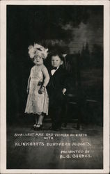 Smallest man and woman on Earth Postcard