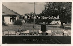 The Littlest Big Show on Earth, Seal Bros Circus Postcard