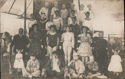 Portrait of Aussie Circus Performers Postcard