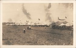 "Agriculture Exposition, Fair ""Advance-Rumely"" Steam Tractor Postcard"