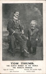 Tom Thumb, The Oldest Midget in the World Postcard