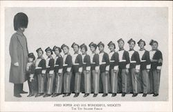 Fred Roper and His Wonderful Midgets The Toy Soldier Parade Postcard