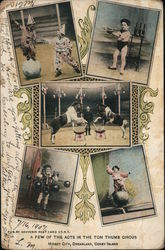A Few of the Acts in the Tom Thumb Circus Postcard