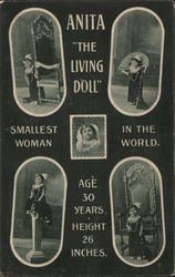 Anita, The Living Doll - Smallest Woman in the World Postcard