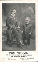 Tom Thumb The Oldest Midget in the World Postcard