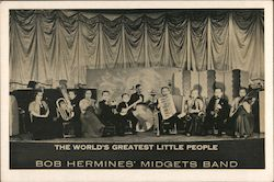 The World's Greatest Little People, Midgets Band Postcard