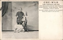 Che-Mah the Chinese dwarf the smallest man in the world Postcard