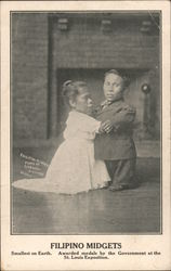 Filipino Midgets. Smallest on Earth Postcard