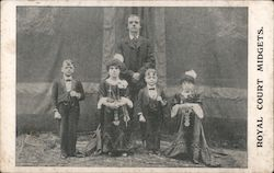 Royal Court Midgets Postcard