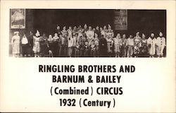 Ringling Brothers and Barnum & Bailey (Combined) Circus 1932 Postcard