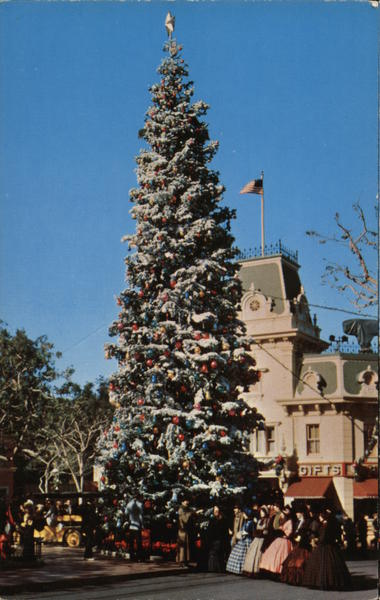Disneyland at Christmas Anaheim California