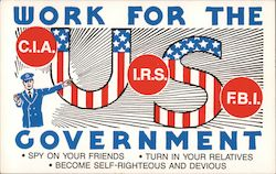 Work for the U.S. Government Postcard