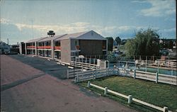 New London Motel Postcard