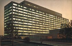 Ford Motor Company - Central Office Building - American Road Postcard