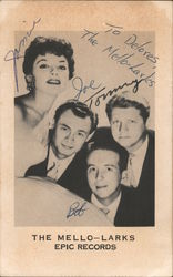"Members of ""The Mello-Larks"" Autographed Postcard"