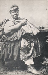"""Yo Mama"" captivating Eliza known as ""Big Liz"" over 800 pounds Postcard"