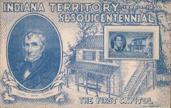 Indiana Territorial Sesquicentennial FDC Postcard