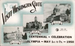 Visit Washington State centennial celebration - Olympia May 1st to 7th 1950