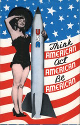 Think American, Act American, Be American Postcard