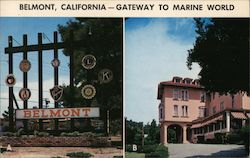 Belmont, California - Gateway to Marine World Postcard