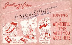 Greetings from Forestville, California Postcard